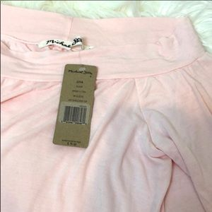 Michael Stars Off Shoulder 3/4 Sleeve Pink Top O/S